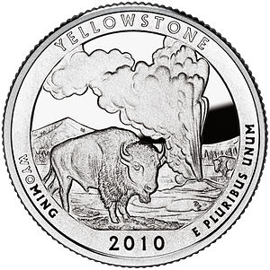 America the Beautiful Quarters - Yellowstone quarter