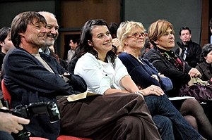 French presidential election, 2012 - The candidates of the Ecology primary sitting together