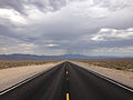 2014-07-17 15 21 54 View south along Nevada State Route 375 about 18.2 miles south of the Nye County Line in Lincoln County, Nevada.JPG