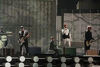 De la capăt - Voltaj during a rehearsal for the Eurovision Song Contest 2015 in Vienna.