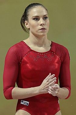 2015 European Artistic Gymnastics Championships - Vault - Ksenia Afanasyeva 01.jpg