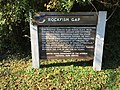 2016-10-24 10 34 18 Sign describing the history of Rockfish Gap at the north end of the Blue Ridge Parkway in Nelson County, Virginia.jpg