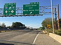 2017-10-06 09 01 36 View south along Interstate 295 (Camden Freeway) at Exit 61A (Arena Drive EAST, White Horse Avenue) in Hamilton Township, Mercer County, New Jersey.jpg