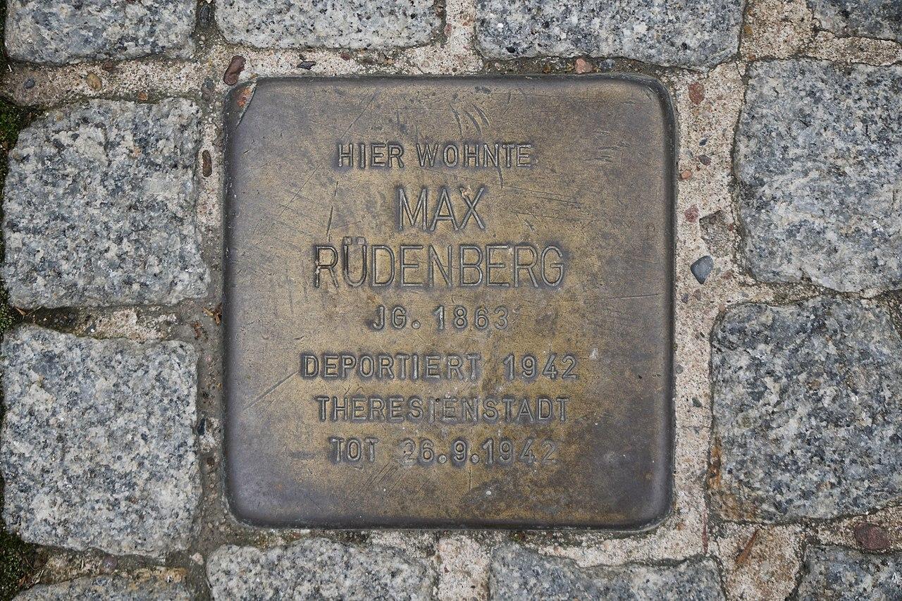 2019-05-22 Hannover Stolperstein Max Rüdenberg.jpg