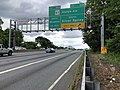 2019-05-27 12 36 21 View east along the inner loop of the Capital Beltway (Interstate 495) at Exit 31B (Maryland State Route 97 South-Georgia Avenue, Silver Spring) on the border of Forest Glen and Silver Spring in Montgomery County, Maryland.jpg