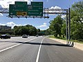 2019-05-27 15 47 25 View west along the outer loop of the Capital Beltway (Interstate 495) at Exit 34 (Maryland State Route 355-Wisconsin Avenue, Bethesda, Rockville) in Bethesda, Montgomery County, Maryland.jpg