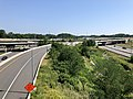 2019-06-28 10 58 14 View north along Interstate 495 (Capital Beltway) from the overpass for the ramp from Interstate 66 eastbound to Interstate 495 northbound on the edge of Idylwood and Merrifield in Fairfax County, Virginia.jpg