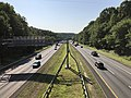 2019-07-25 09 04 27 View south along Interstate 97 (Patuxent Freeway) from the overpass for Hawkins Road in Crownsville, Anne Arundel County, Maryland.jpg