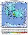 2020-10-30 Néon Karlovásion, Greece M7 earthquake shakemap (USGS).jpg