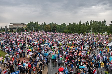 """March of Unity"" near the Palace of Independence. Minsk, 6 September 2020 Belarusian protests -- Minsk, 6 September p0085.jpg"