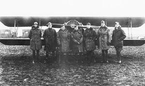 Foucaucourt Aerodrome - SPAD XIII of the 213th Aero Squadron at Foucaucourt Aerodrome