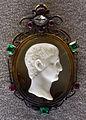 215 prima età imperiale, druso, calcedonio, con cornice di epoca medicea del xv-xvi sec. ca..JPG