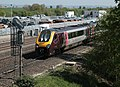 220028 Arriva XC Voyager held at signals east of Didcot to await a path across the GWML to the Birmingham lines.jpg