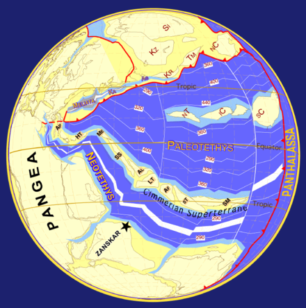 Plate tectonics- 249 million years ago