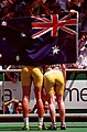 261000 - Athletics track 100m T38 Katrina Webb Alison Quinn Australian flag - 3b - 2000 Sydney race photo.jpg