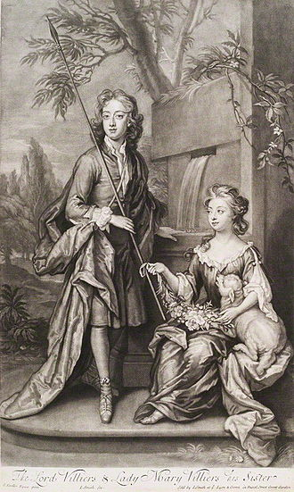 William Villiers, 2nd Earl of Jersey - The Earl of Jersey, with his sister, Mary, Lady Lansdowne.