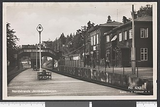 Nordstrand Station - The station after the arrival of double track in the 1920s