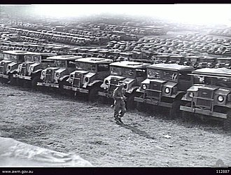 North Ryde, New South Wales - 3 Australian Ordnance Vehicle Park at North Ryde in 1943