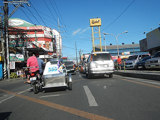 General Luis Street Road in the Philippines