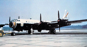 Boeing KB-29 Superfortress - Experimental Boeing YKB-29T Superfortress,(Boeing B-29-90-BW Superfortress) 45-21734, assigned to the 421st Air Refueling Squadron, Yokota Air Base, Japan, 1954 Returned to United States and retired to AMARC, Feb 1955.