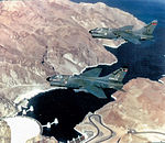 4451st Tactical Squadron A-7D Corsir IIs over Hoover Dam.jpg