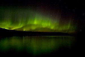 Barrhead, Alberta - Aurora Borealis overhead Thunder Lake Provincial Park