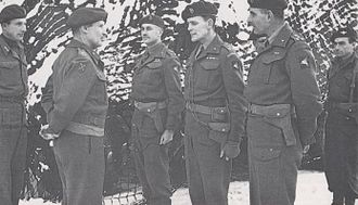 Napier Crookenden - Lt. Col. Napier Crookenden (extreme right) with Gen Sir Bernard Montgomery