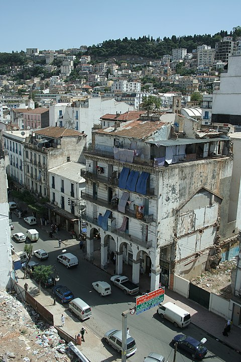 Belouizdad street, main hub of Belouizdad, Algiers