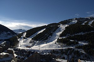 Soldeu - The town and ski resort base in 2007