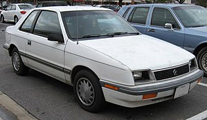 Dodge Shadow - 1987–1988 Plymouth Sundance 3-door