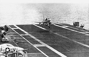 A-4C VA-15 landing on USS Intrepid (CVS-11) 1967.jpg
