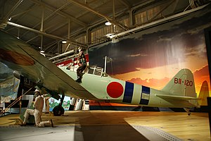 Pearl Harbor (film) - Image: A6M2 Model 21 Zero Mfr No 500 side view port