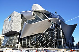 The near-completion Art Gallery of Alberta in ...