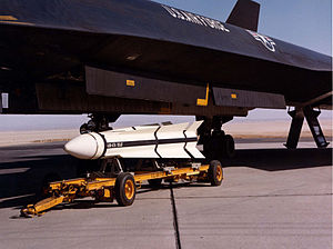 AIM-47 Falcon - An AIM-47A waiting to be loaded aboard a YF-12.
