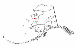 Location of White Mountain, Alaska