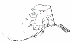 Location of Wiseman, Alaska