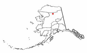 Wiseman, Alaska - Image: AK Map doton Wiseman