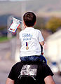 A Child Waiting for His Royal Marine Dad to Return from Afghanistan MOD 45158112.jpg
