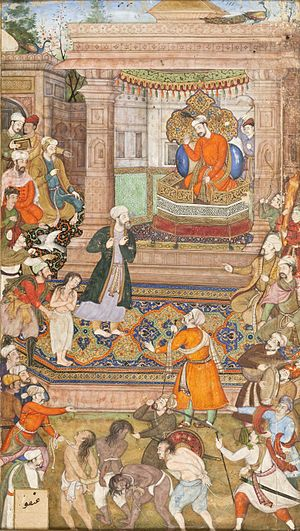 A Court Scene, Folio from a Manuscript of Sadi's Gulistan (Rose Garden) LACMA M.79.9.12.jpg