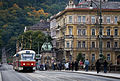 A Tramway in a street by the river, Prague - 8005.jpg