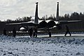 A U.S. Air Force F-15C Eagle aircraft assigned to the 493rd Expeditionary Fighter Squadron taxis to a runway March 18, 2014, as part of Baltic Air Policing in Šiauliai, Lithuania 140318-F-XB934-135.jpg