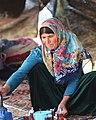 A Yörük woman serving tea, Ormana, Antalya, Turkey, 2014.jpg