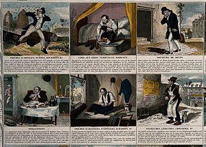 A broadsheet illustrating 24 maladies and giving remedies. C Wellcome V0010544.jpg
