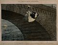 A destitute girl throws herself from a bridge, her life ruin Wellcome V0019429.jpg