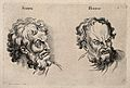 A face expressing scorn (left) and a face expressing horror Wellcome V0009325.jpg