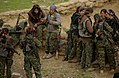 A small group of YPJ fighters relaxing together.jpg