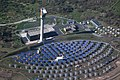 A solar power system built in 1983 that used mirrors to heat up molten salts coolant to 450 °C http---en.wikipedia.org-wiki-Themis (solar power plant) (20251694405).jpg