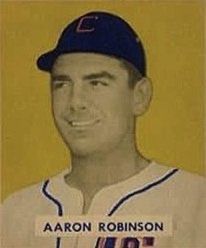 Aaron Robinson - Robinson's 1949 Bowman Gum baseball card