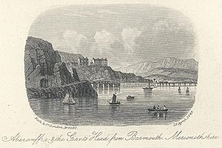 Aberamffra & the Giant's Head from Barmouth, Merionethshire