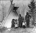 Aboriginal family near Prince Albert, SK, 1919 (2919413980).jpg